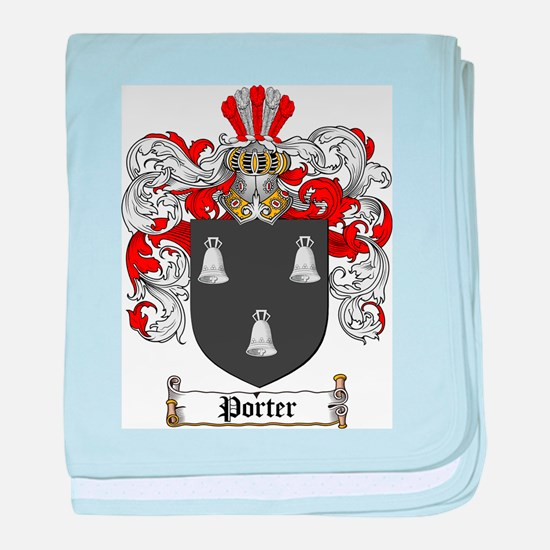 Porter Family Crest baby blanket