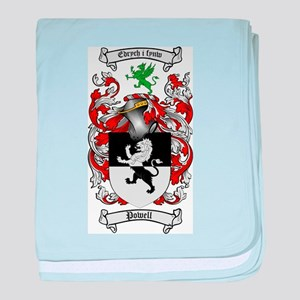 Powell Family Crest baby blanket