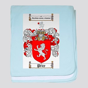Price Coat of Arms baby blanket