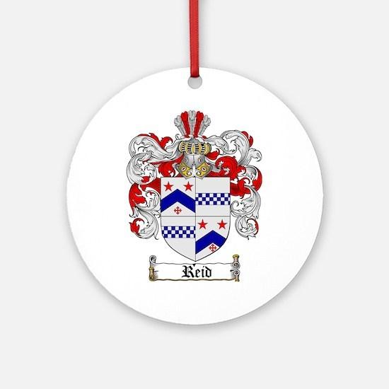 Reid Family Crest Ornament (Round)