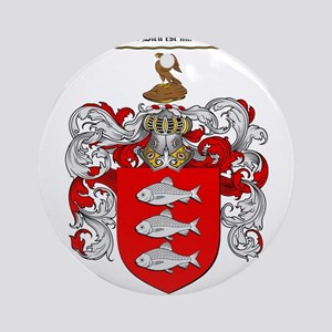 Roach Coat of Arms Ornament (Round)