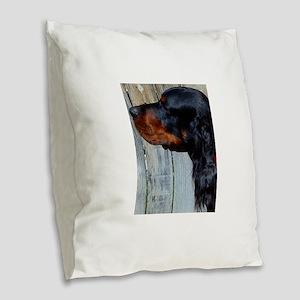 Male Gordon Head Study Burlap Throw Pillow
