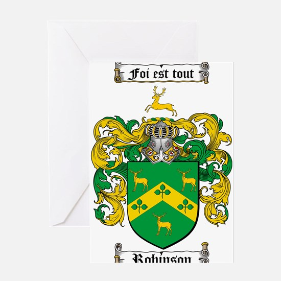 Robinson Coat of Arms Greeting Card