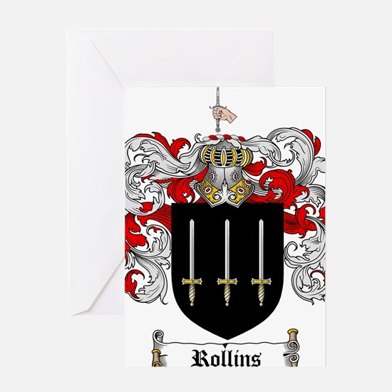 Rollins Family Crest Greeting Card