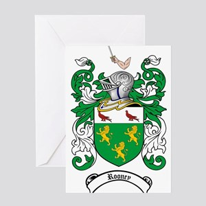 Rooney Coat of Arms Greeting Card