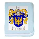 Sanchez Coat of Arms baby blanket