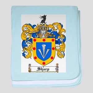 Sharp Coat of Arms baby blanket