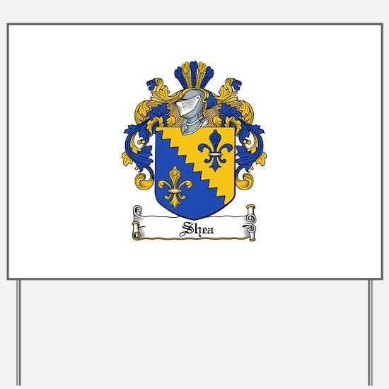 Shea Coat of Arms Yard Sign