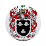 Strickland Coat of Arms Ornament (Round)