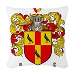 Tate Coat of Arms Woven Throw Pillow
