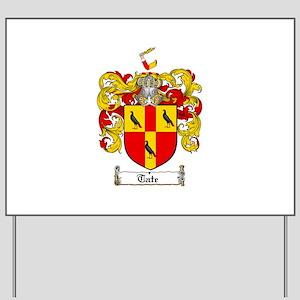 Tate Coat of Arms Yard Sign
