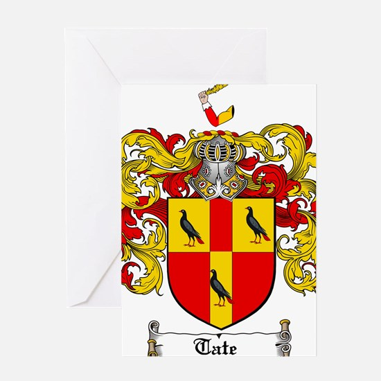 Tate Coat of Arms Greeting Card