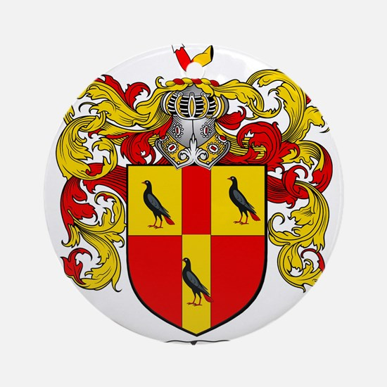 Tate Coat of Arms Ornament (Round)