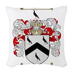 Thomas Coat of Arms Woven Throw Pillow