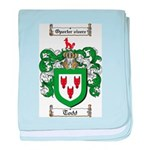 Todd Coat of Arms baby blanket