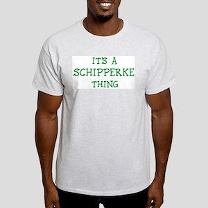 Schipperke thing Ash Grey T-Shirt