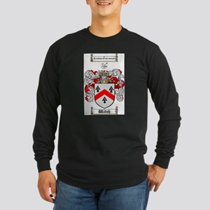 Walsh Coat of Arms Long Sleeve Dark T-Shirt