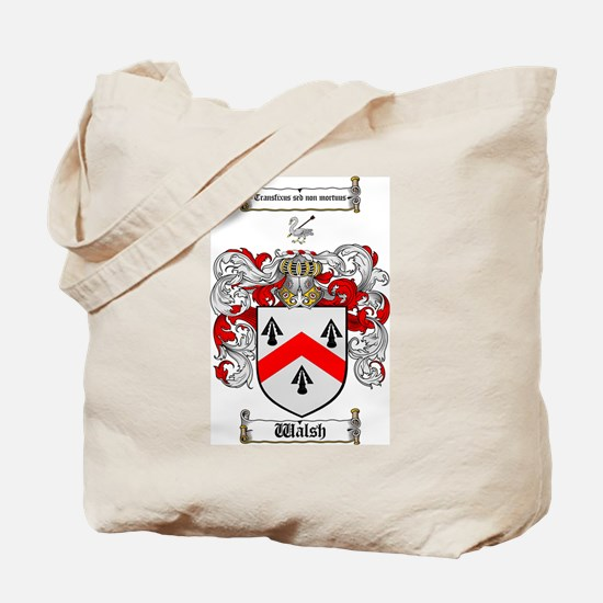 Walsh Coat of Arms Tote Bag