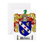 Webster Coat of Arms Greeting Cards (Pk of 20)
