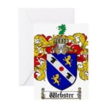 Webster Coat of Arms Greeting Card