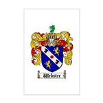 Webster Coat of Arms Mini Poster Print