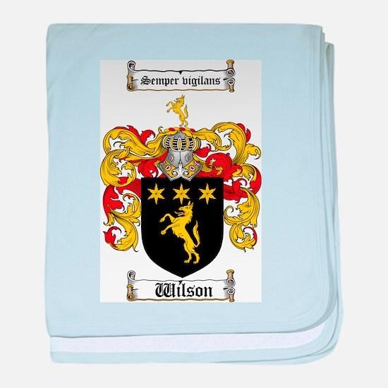 Cute Wilson coat of arms baby blanket