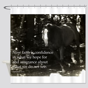 Mattew 11:6 Faith Shower Curtain