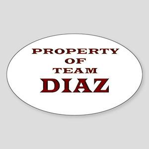 Property of team Diaz Oval Sticker