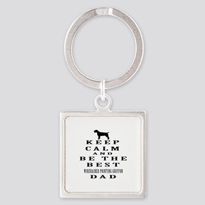 Wirehaired Pointing Griffon Dad Designs Square Key