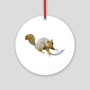 Pirate Squirrel Ornament (Round)