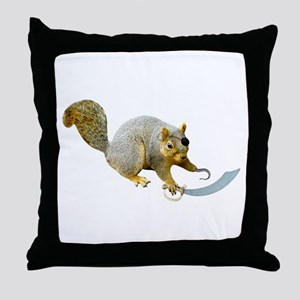 Pirate Squirrel Throw Pillow