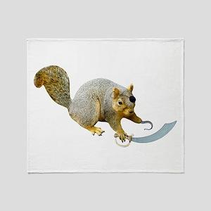 Pirate Squirrel Throw Blanket
