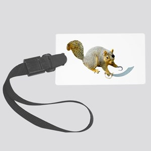 Pirate Squirrel Large Luggage Tag