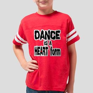 DANCEHEARTFORM2trans Youth Football Shirt
