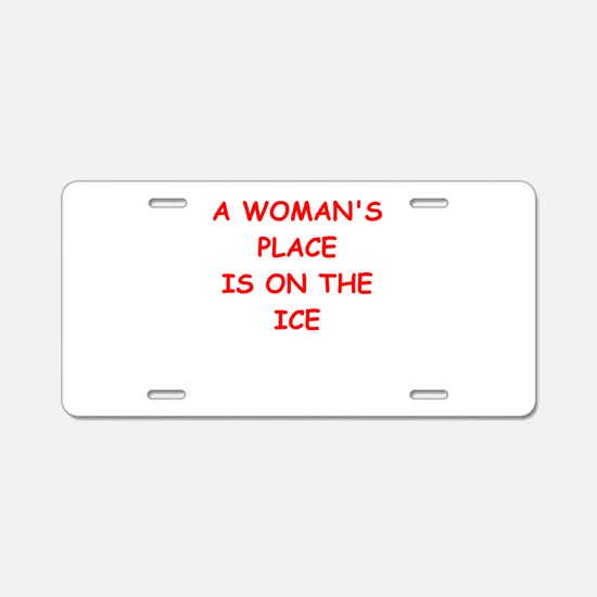ice Aluminum License Plate