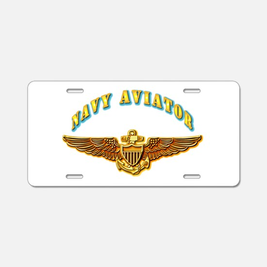 Navy - Navy Aviator Aluminum License Plate