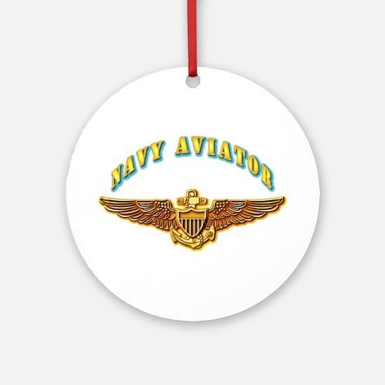 Navy - Navy Aviator Ornament (Round)