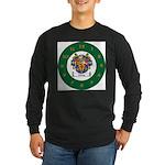 Tuohy Irish Coat of Arms Long Sleeve Dark T-Shirt