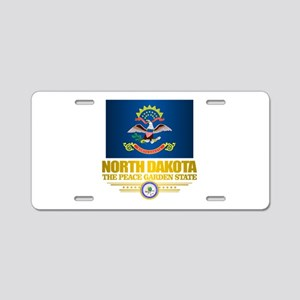 North Dakota Flag Aluminum License Plate