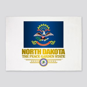 North Dakota Flag 5'x7'Area Rug