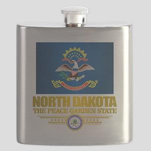 North Dakota Flag Flask