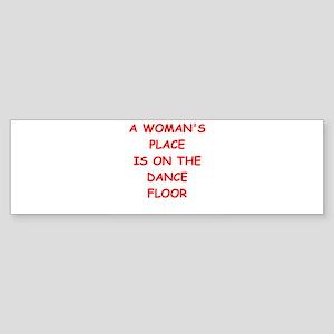 dance floor Bumper Sticker