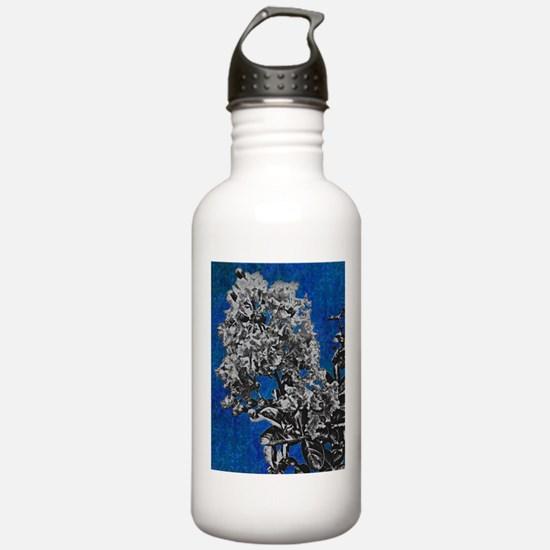 blue crepe myrtle Water Bottle