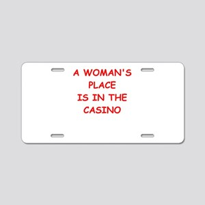 casino Aluminum License Plate