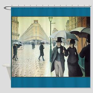 Paris on a Rainy Day Fine Art Shower Curtain