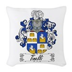 Tinelli Coat of Arms Woven Throw Pillow