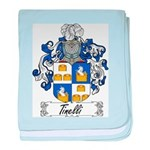 Tinelli Coat of Arms baby blanket