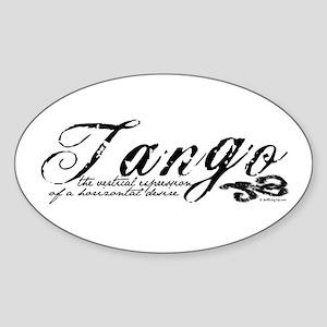 Tango Definition Oval Sticker