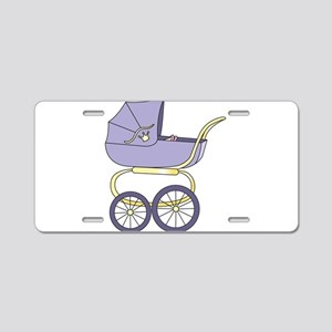 Baby Buggy Aluminum License Plate