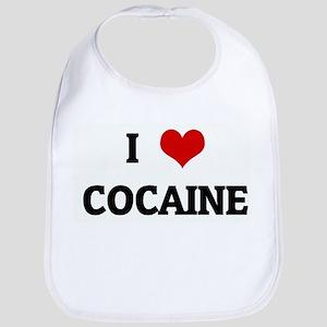 I Love COCAINE Bib